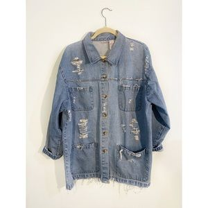 Vintage Denim Workman's Style Jacket